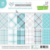 6x6 Petite Paper Pack by Lawn Fawn - Perfectly Plaid Winter