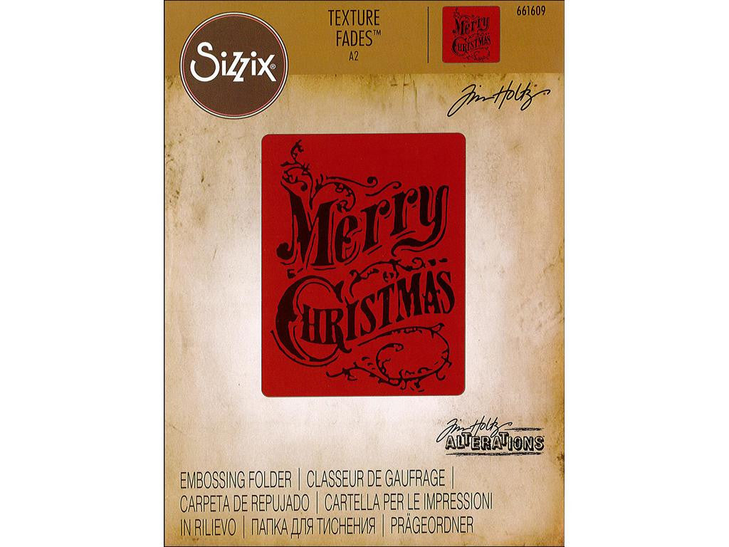 Tim Holtz Alterations Texture Fades Embossing Folder - Christmas Scroll - by Sizzix
