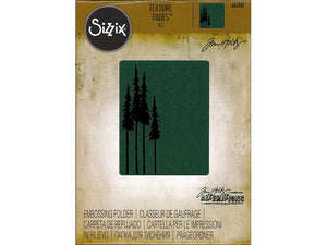 Tim Holtz Alterations Texture Fades Embossing Folder - Tall Pines - by Sizzix