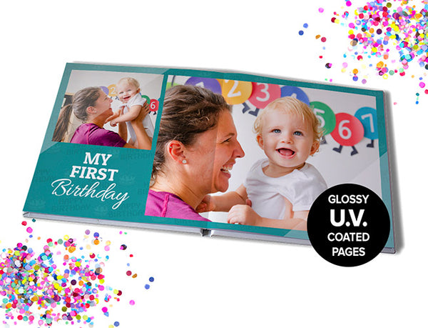 "11x11"" (28x28cm) Premium Seamless Hard Cover 40 pages"