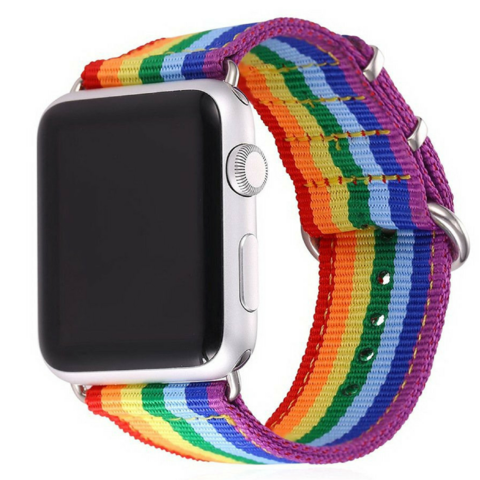 Rainbow Colorful Watch Strap Watchband For Applewatch