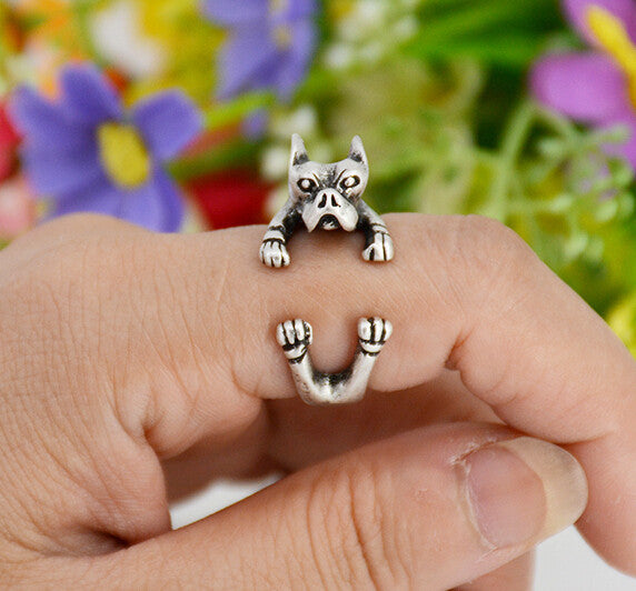 Pitbull Dog Wrap Ring