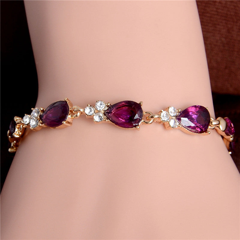 Gold Plated Crystal Bracelets (5 colours)