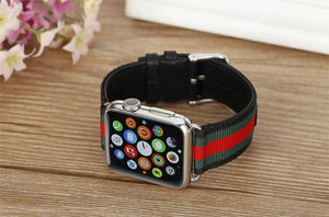 Stylish Rainbow band for apple watch with metal buckle (modern design)