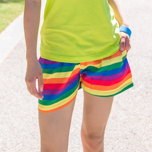 Rainbow brand Navy stripes beach shorts for women (Quick-drying)