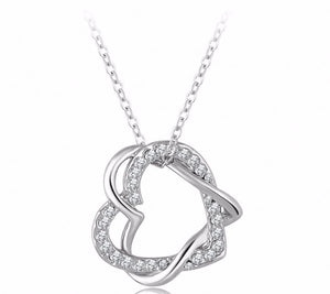 Heart Pendant Necklace (Rose Gold / Platinum plated)