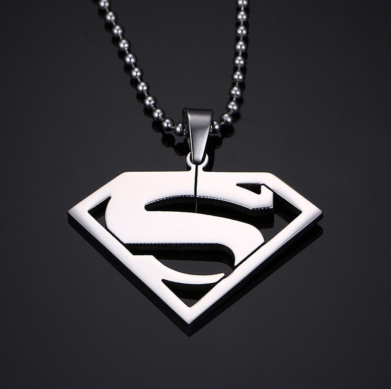Goldsilver plated superman pendant necklace wrapmydeal previous slide mozeypictures Gallery