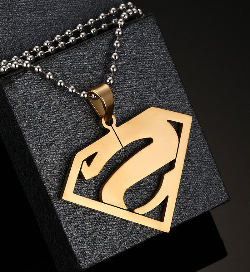 Gold/SIlver Plated Superman Pendant Necklace