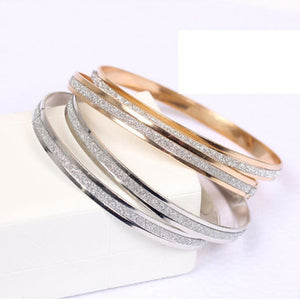 Silver/Gold Colour Charm Bracelet Bangle