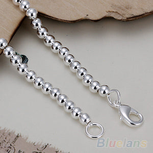 Silver Plated Charms Ball Bracelet