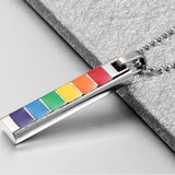 "Rainbow ""PRIDE"" PENDANT Necklace (6 designs)"