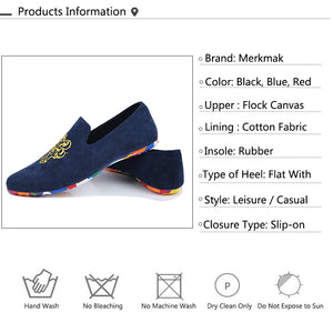 Velvet Loafers Shoes