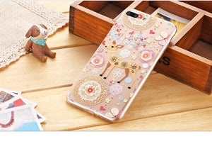 3-D  iPhone 7/7 plus flip cover Case Transparent Soft