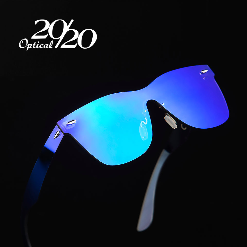 Rimless Square Frame Women Sun Glasses