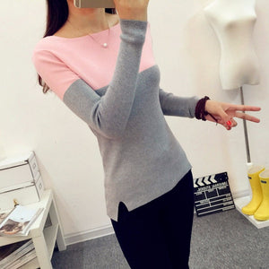 Women pink  Knitted Sweater and pullover