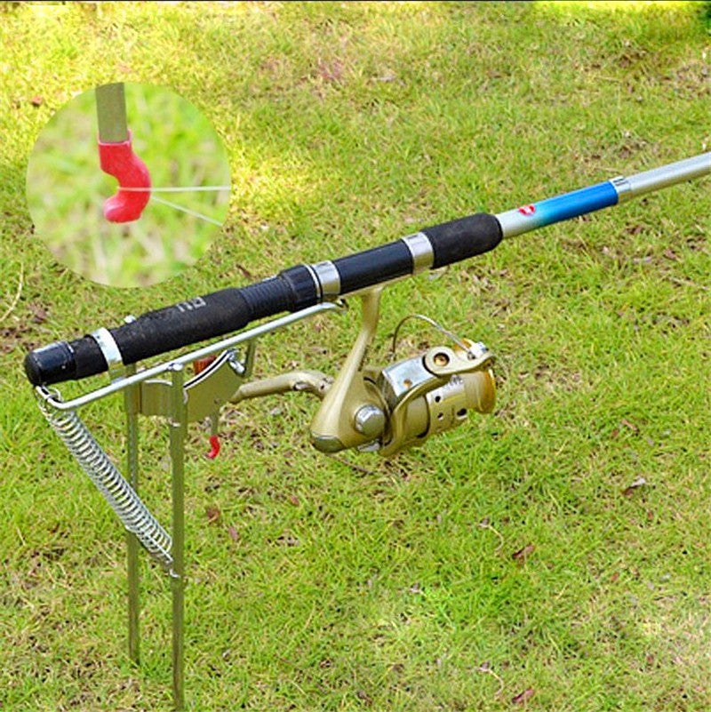 Double Spring Tip-Up Fishing Rod