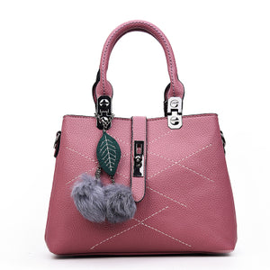 Fur Leather Handbag