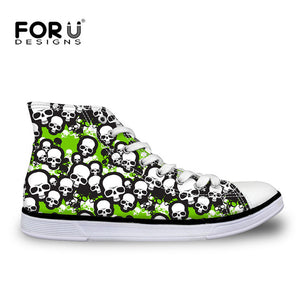 Skull High-top Vulcanize Shoes