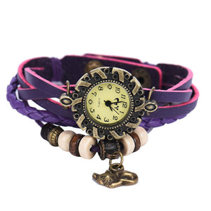 Leather Cat  Bracelet and Watch