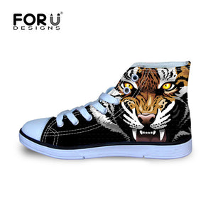 3D Animal Tiger Printing Shoe