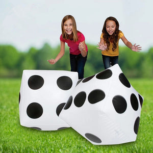 Inflatable White Dice Outdoor Game