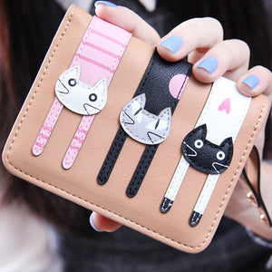 Cat lovely wallet wallet