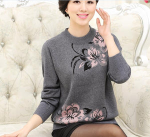 Fashion floral pullover