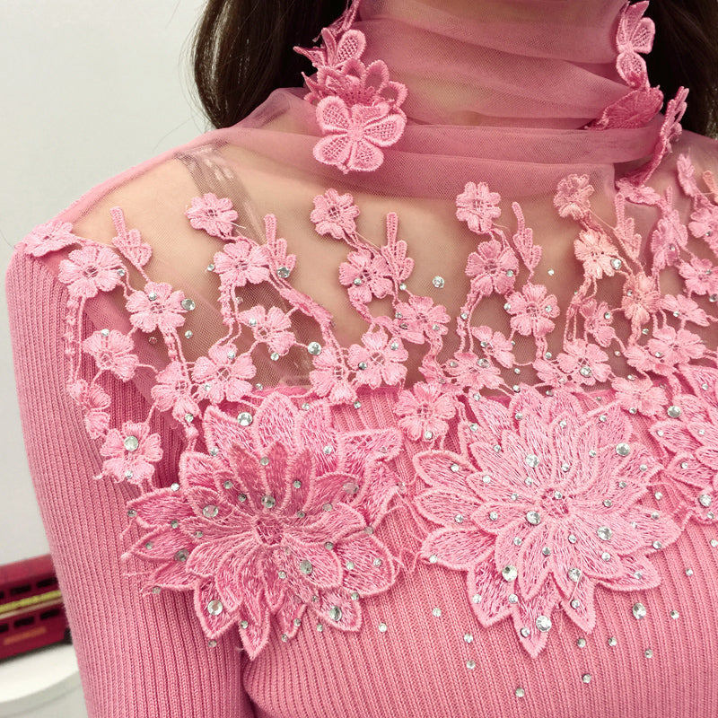 Lace Patchwork  Sweater
