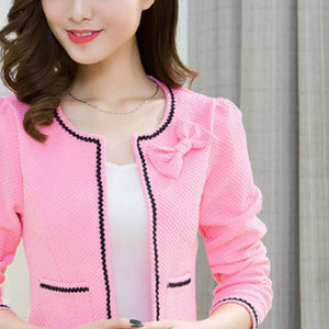 Round Neck Long Sleeve Jacket