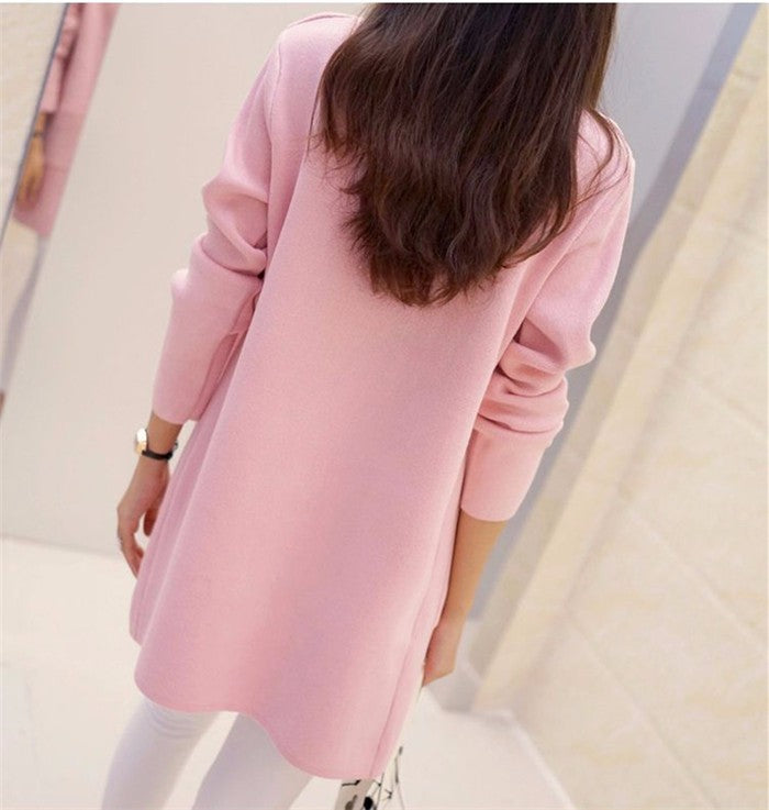 Long Loose Knit Coat