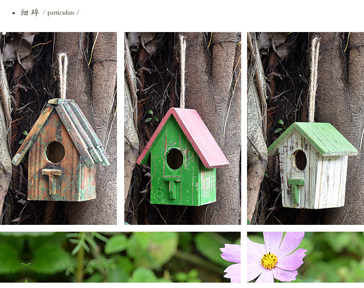 Wood Bird House Bird Cage