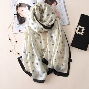 Silk  print soft  scarves