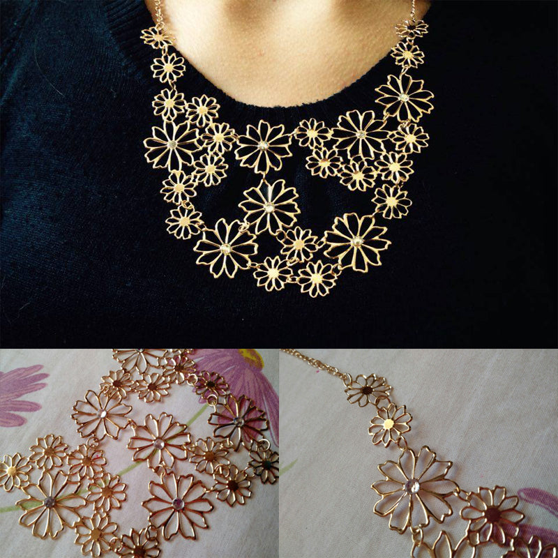 Multilayer Flowers Necklace