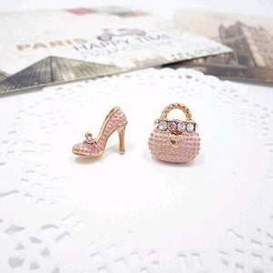 Bags Heels Shoe Asymmetric Earrings