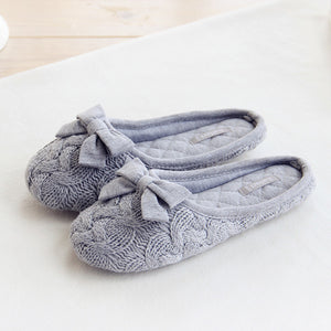 Knitted Bowtie Slippers