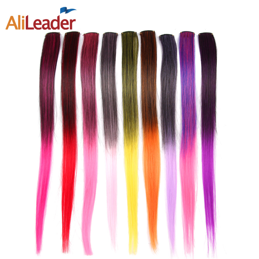 Ombre Two Tone Color  Clip In Hair Extensions