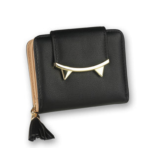 Cute Cat Leather Trifold  Wallet