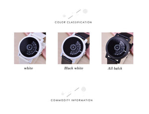 Digital disc fashion watch