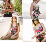High Waisted Floral Beachwear
