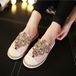 Gems Round Toe loafers
