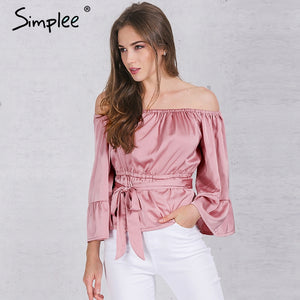Off shoulder ruffle bow Top
