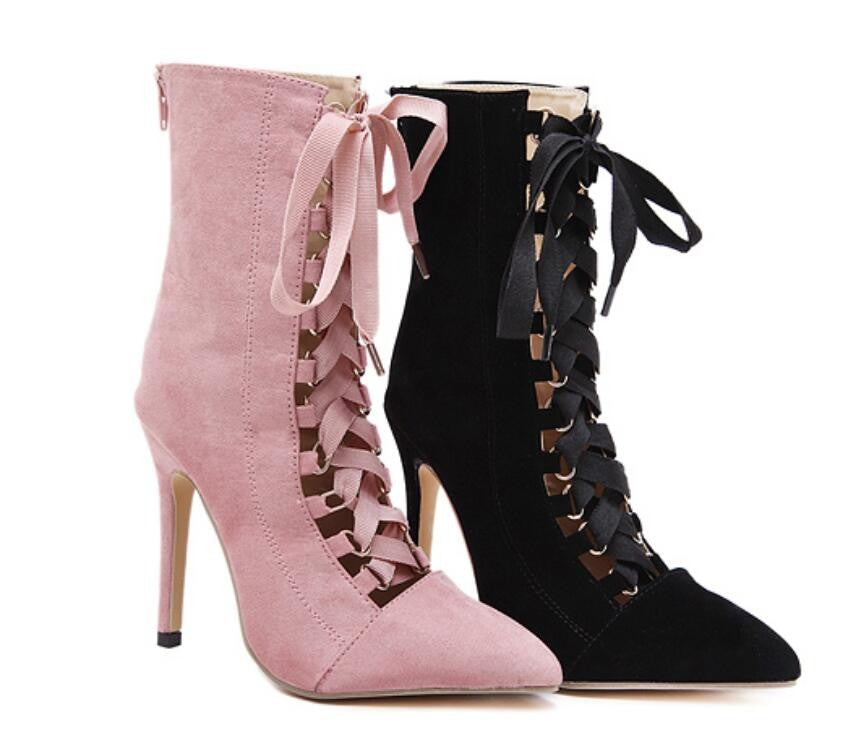 Stiletto Lace Up Pumps