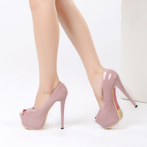 Shallow Mouth Peep Toe Thin Heels