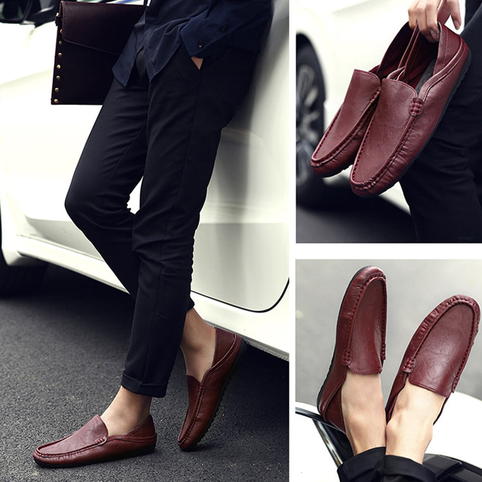 Casual leather shoes