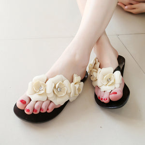 Flowers Flip Flops Beach Slippers