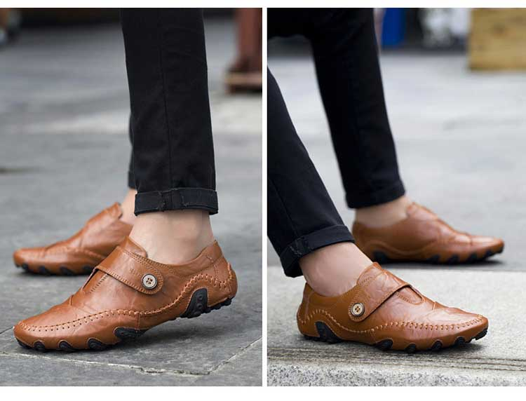 Split Leather Boat Loafers