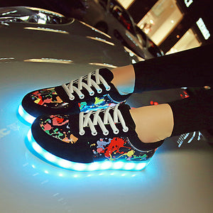 Colourful Glowing Sneakers