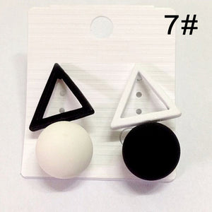 Triangle Candy Color Earrings