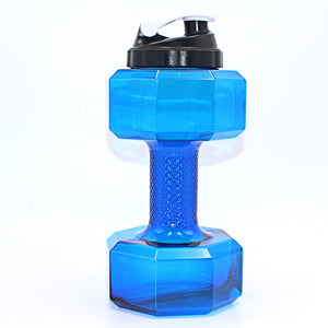 Dumbbells Shaped Plastic Water Bottle
