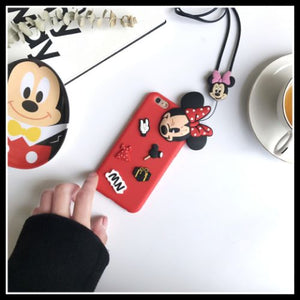 Cute minnie mickey mouse case